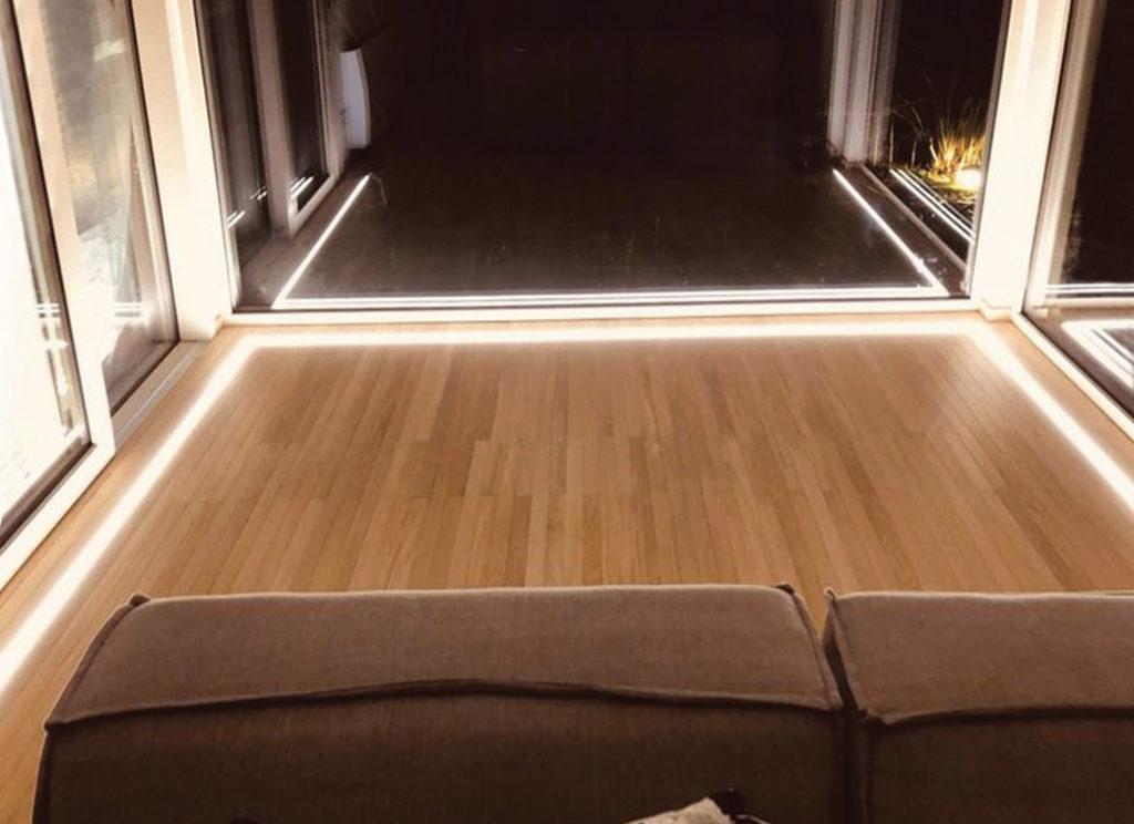 luce incassata nel pavimento